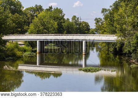 View Of The South Pierce Street Bridge Over The Ottawa River In Lima, Ohio.
