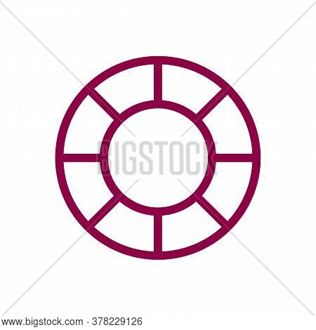Life Preserver Icon Thin Line For Web And Mobile, Modern Minimalistic Flat Design. Vector Icon With