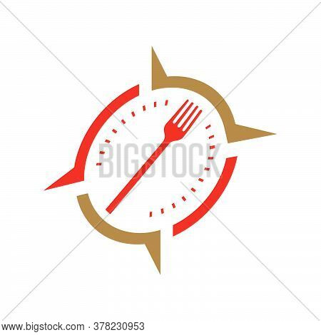 Food Blogging Vlogging Traveling Logo Design Vector Stock Illustration