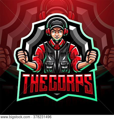 The Corps Esport Mascot Logo With Text