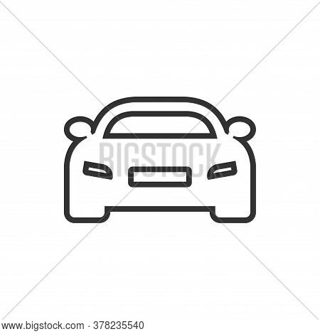 Car Icon Outline. Vector Car Line Icon Isolated On White Background. Car Line Icon Trendy And Modern