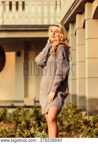Cashmere Woolen Sweater. Warm Oversized Sweater. Woman Wear Sweater. Elongated Sweatshirt Tunic Dres