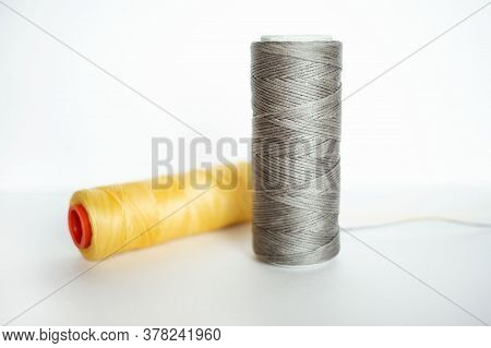 Natural Waxed Colorful Grey Yellow Twine For Leather