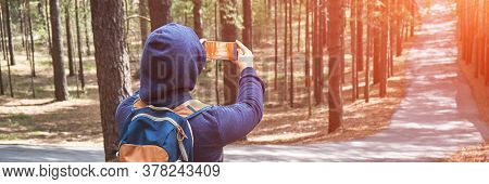 Anonymity Faceless Portrait. Staycation Travel. Stay Home Vacation. Woman Photoshoot Forest. Trendin