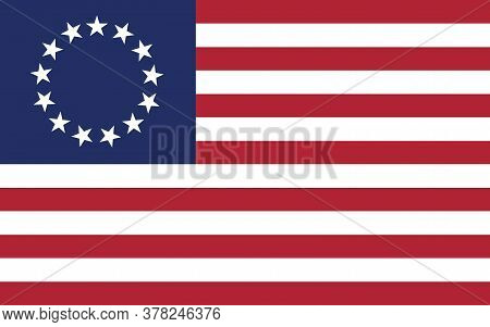 First United States Flag Vector Graphic. Rectangle American Flag Illustration. United States Country