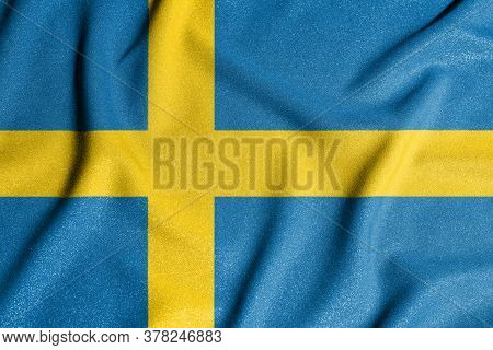 National Flag Of The Sweden. The Main Symbol Of An Independent Country. Flag Of Sweden. An Attribute