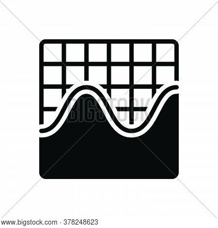 Black Solid Icon For Sine-wave-graphic Frequency Waveform Amplitude Equalizer