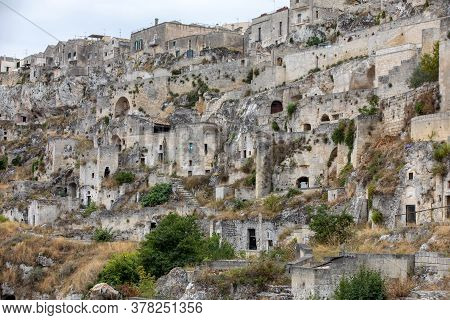 Sasso Caveoso Is Not A Renovated Part Of Sassi Di Matera, The Historical District Of Matera. Basilic