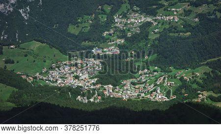 Village Of Oltre Il Colle With The Hamlet Of Zorzone In Val Serina Bergamo Italy