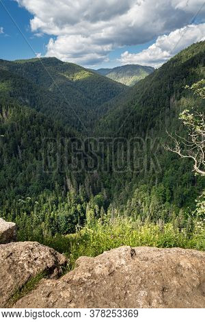 Ravine And Forest Of Slovak Paradise Seen From Tomasovsky Vyhlad (tomasovsky View). Beautiful Summer