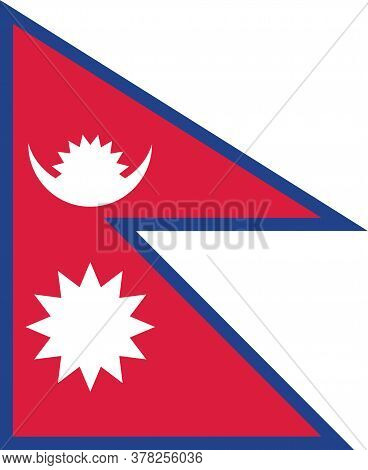 Nepal Flag Vector Graphic. Rectangle Nepalese Flag Illustration. Nepal Country Flag Is A Symbol Of F