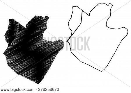 Sargodha City (islamic Republic Of Pakistan, Punjab Province) Map Vector Illustration, Scribble Sket