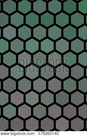 Multi-colored Rectangular Pixel Background. The Texture Consisting Of Multi-colored Hexagons.