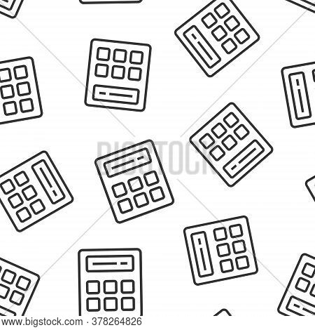 Calculator Icon In Flat Style. Calculate Vector Illustration On White Isolated Background. Calculati