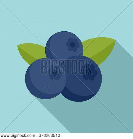 Superfood Blueberry Icon. Flat Illustration Of Superfood Blueberry Vector Icon For Web Design