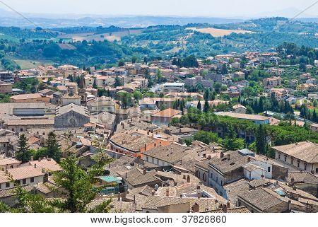 Panoramic view of Amelia. Umbria. Italy.