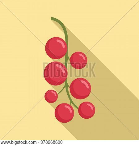 Superfood Red Berry Icon. Flat Illustration Of Superfood Red Berry Vector Icon For Web Design