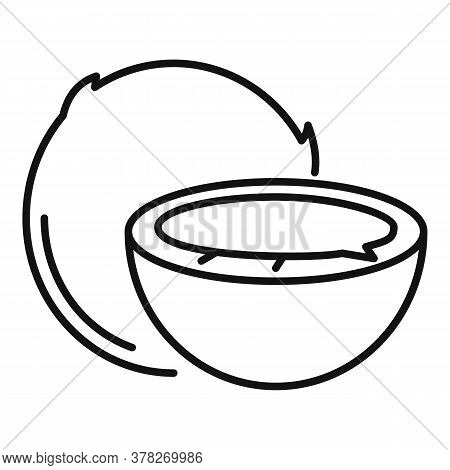 Exotic Coconut Icon. Outline Exotic Coconut Vector Icon For Web Design Isolated On White Background