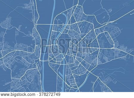 Seville City Map Poster. Map Of Seville Street Map Poster. Seville Map Vector Illustration.