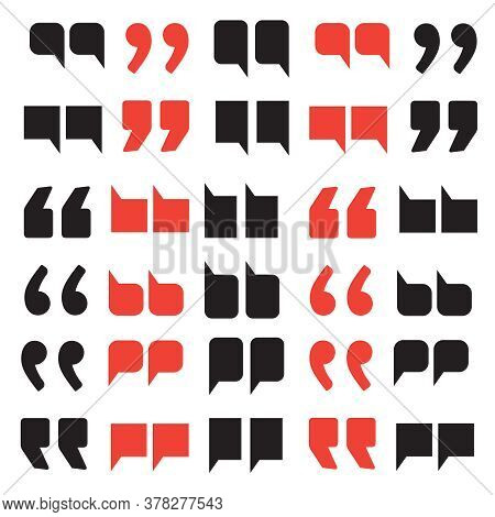 Quotes Abstract Background For Dialogue. Blockquote Chat Vector