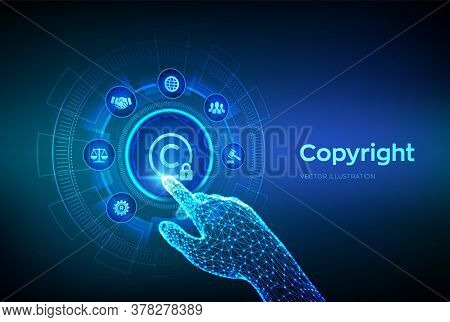 Copyright. Patents And Intellectual Property Protection Law And Rights. Protect Business Ideas And H