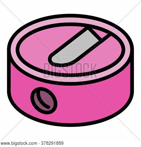 Round Sharpener Icon. Outline Round Sharpener Vector Icon For Web Design Isolated On White Backgroun