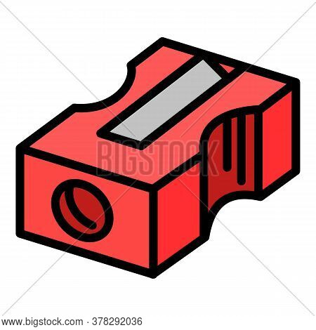 Sharpener Icon. Outline Sharpener Vector Icon For Web Design Isolated On White Background