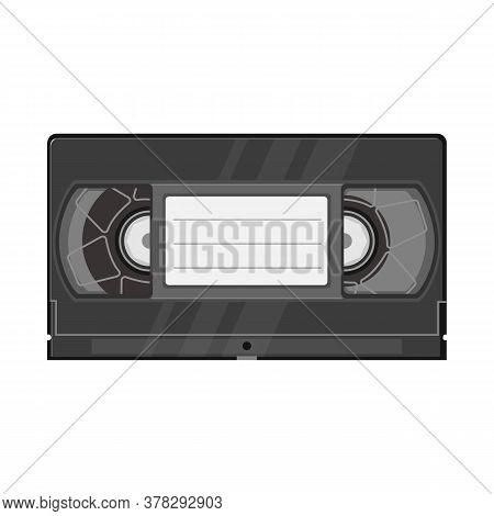 Isolated Object Of Videotape And Videocassette Logo. Graphic Of Videotape And Reel Vector Icon For S