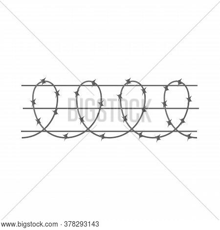 Isolated Object Of Barbwire And Wire Logo. Web Element Of Barbwire And Fence Stock Symbol For Web.