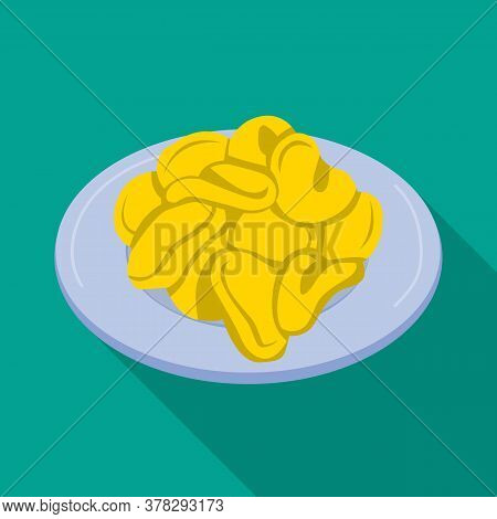 Vector Illustration Of Bowl And Chip Symbol. Graphic Of Bowl And Crunchy Stock Symbol For Web.