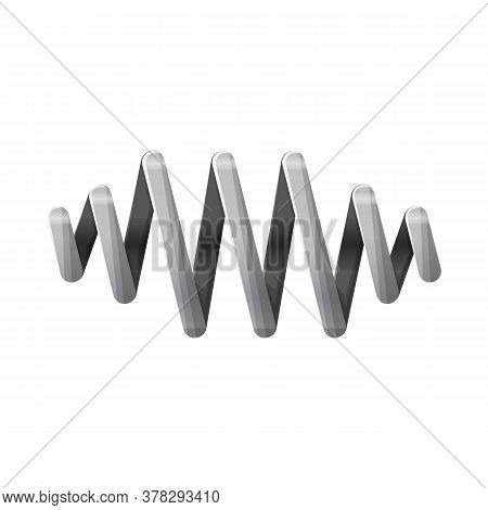 Vector Design Of Coil And Metal Sign. Graphic Of Coil And Detail Stock Vector Illustration.