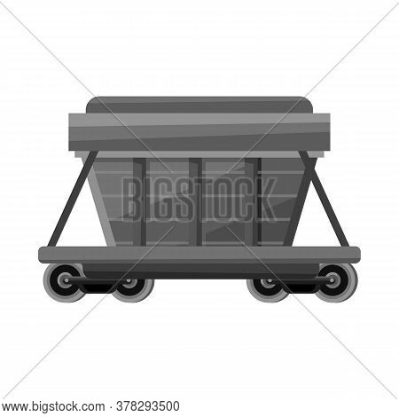 Vector Design Of Wagon And Container Logo. Web Element Of Wagon And Boxcar Stock Vector Illustration