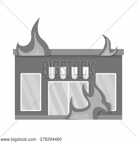 Vector Design Of Score And Flame Sign. Collection Of Score And Library Stock Vector Illustration.