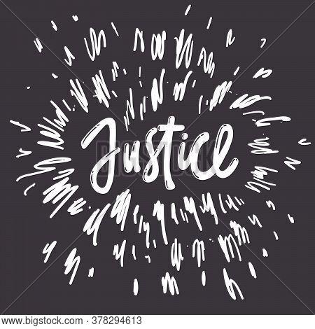 Justice. Blm. Black Lives Matter 2020 Sticker. Social Media Content Post Banner Anti Racism.