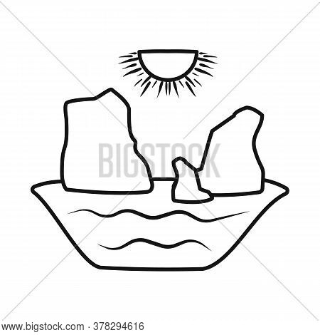 Vector Illustration Of Rock And Bay Sign. Collection Of Rock And Vietnamese Stock Vector Illustratio