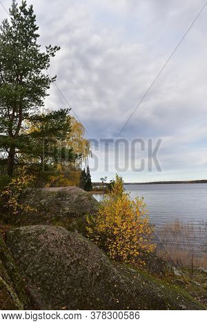 Mon Repos Is Rocky Landscape Park On The Shore Of The Bay Of Protective Vyborg Bay, Northern Part Of