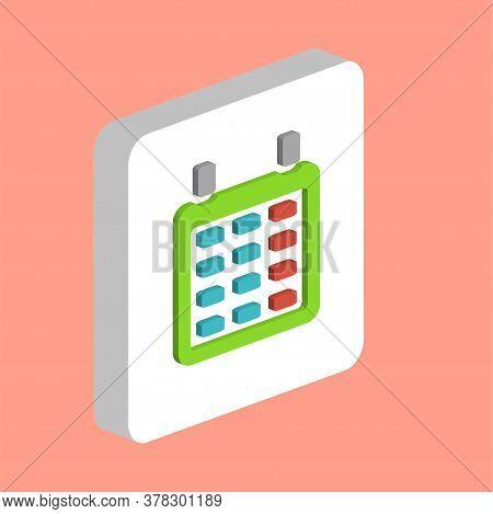 Calendar Simple Vector Icon. Illustration Symbol Design Template For Web Mobile Ui Element. Perfect