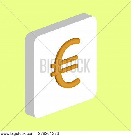 Euro Currency Simple Vector Icon. Illustration Symbol Design Template For Web Mobile Ui Element. Per