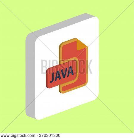 Java Programming Simple Vector Icon. Illustration Symbol Design Template For Web Mobile Ui Element.