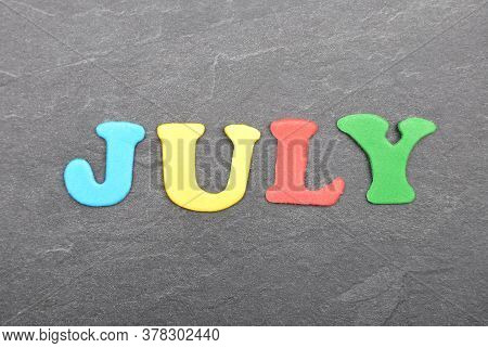 Colorful And Crisp Image Of Term From Colorful Letters On Slate Board