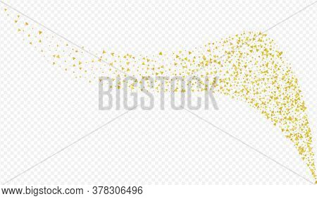 Yellow Glow Anniversary Transparent Background. Golden Shard Card. Gold Shine Abstract Background. C