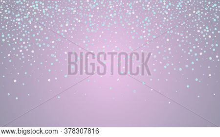 Magic Circle Top Blue Background. Gradient Invitation Shine Invitation. Carnaval Illustration. Holog