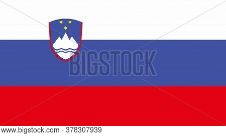 Slovenia Flag, Official Colors And Proportion Correctly. National Slovenia Flag. Vector Illustration