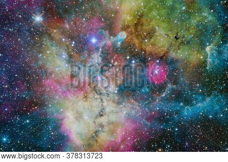 Nebula, Cluster Of Stars In Deep Space. Science Fiction Art. Elements Of This Image Furnished By Nas
