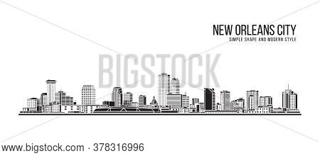 Cityscape Building Abstract Simple Shape And Modern Style Art Vector Design -  New Orleans City