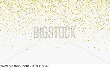 Yellow Shards Transparent Transparent Background. Effect Sparkle Texture. Golden Triangle Happy Desi