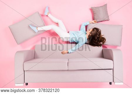 Top View Above High Angle Flat Lay Flatlay Lie Concept Of Her She Nice Attractive Pretty Calm Girl L