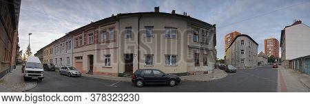 Chomutov, Czech Republic - July 15, 2020: Roosevelt Street