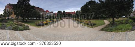 Chomutov, Czech Republic - July 15, 2020: Namesti T. G. Masaryka Square