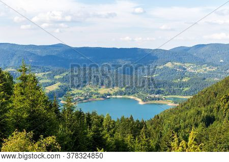 Amazing View Of Zaovine Lake In West Serbia